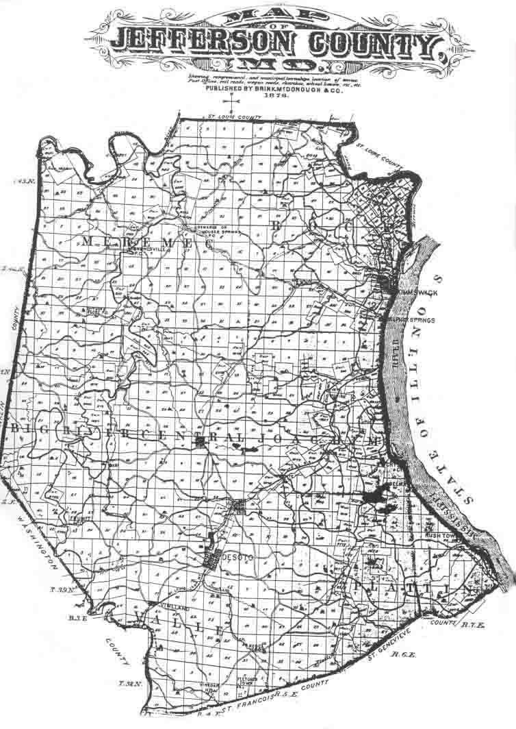 Jefferson County Genealogical Society Missouri Township Map - Missouri county map